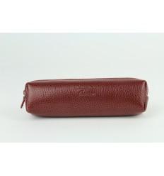 Trousse Laurige cuir carrée zippée
