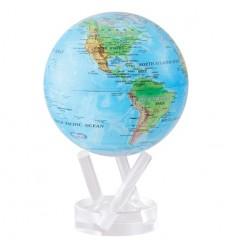 Globe Mova bleu avec relief petit modèle