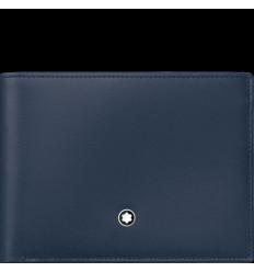 Porte cartes Meisterstück bleu 6 cc