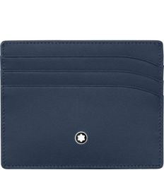 Porte cartes Meisterstück bleu 6 cc extra plat
