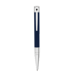 Stylo bille D-Initial bleu chrome
