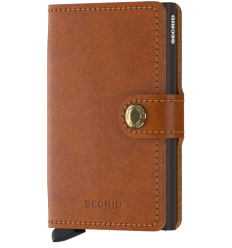 Protège cartes mini wallet Secrid original cognac brown