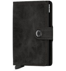 Protège cartes mini wallet Secrid vintage black