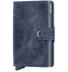 Protège cartes mini wallet Secrid vintage blue