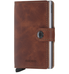 Protège cartes mini wallet Secrid vinage brown