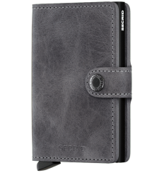 Protège cartes mini wallet Secrid vintage grey black