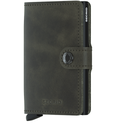 Protège cartes mini wallet Secrid vintage olive black