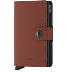Protège cartes mini wallet Secrid matte brick black