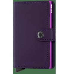 Protège cartes mini wallet Secrid matte purple