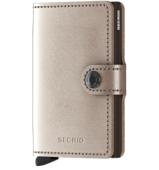Protège cartes mini wallet Secrid métallic champagne brown