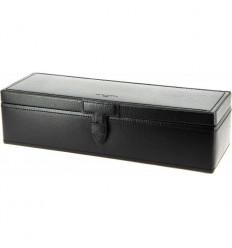 coffret Le Tanneur 5 montres rectangle cuir noir
