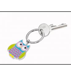 Porte clés Troïka chouette multicolore