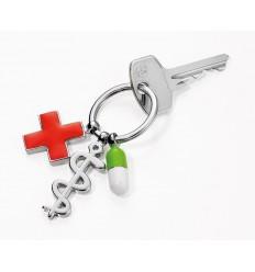 Porte clés Troïka breloques médicales