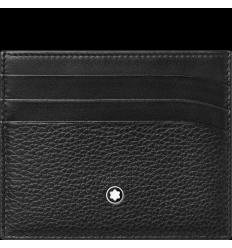 Porte cartes Soft Grain noir 6 cc