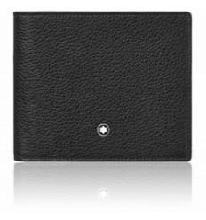 Porte cartes Soft Grain noir 4 cc + monnaie