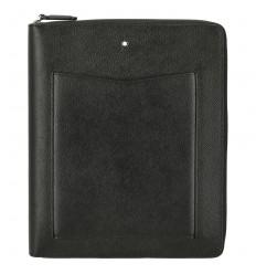 Notebook A5 noir zippé Montblanc Sartorial