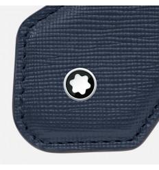 Porte clés losange Montblanc Sartorial bleu