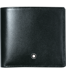 Portefeuille Meisterstück noir 4 cc monnaie