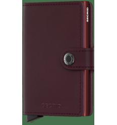 Protège cartes mini wallet Secrid original bordeaux