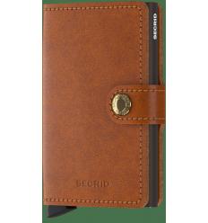 Protège cartes mini wallet Secrid original cognac brown