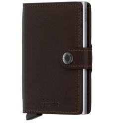 Protège cartes mini wallet Secrid original brown