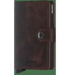 Protège cartes mini wallet Secrid chocolate