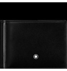 Portefeuille Meisterstück noir 6 cc pince à billets