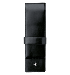 Etui Montblanc Meisterstück noir 2 stylos à rabat